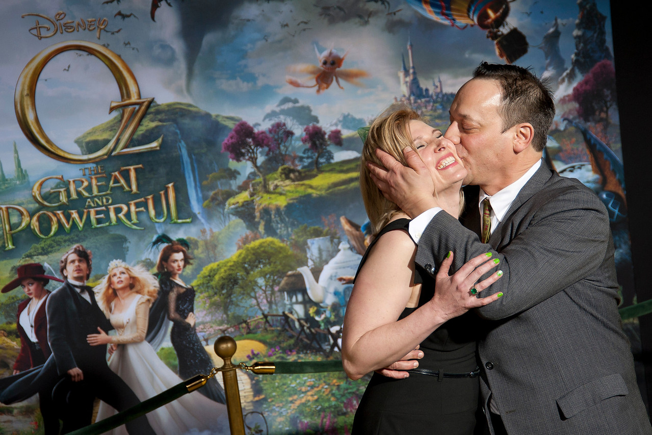 HOLLYWOOD; CA - FEBRUARY 13: Actor Ted Raimi and guest arrive at the world premiere of Walt Disney Pictures' 'Oz The Great And Powerful' at the El Capitan Theatre on Wednesday February 13; 2013 in Hollywood; California. (Photo by Tom Sorensen/Moovieboy Pictures)
