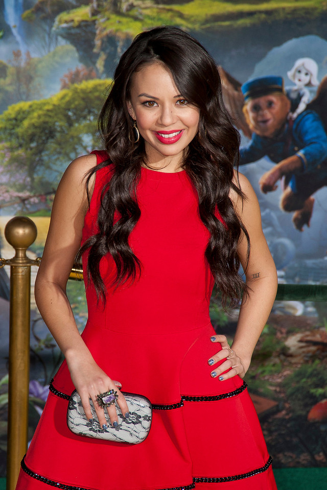HOLLYWOOD; CA - FEBRUARY 13: Actress Janel Parrish arrives at the world premiere of Walt Disney Pictures' 'Oz The Great And Powerful' at the El Capitan Theatre on Wednesday February 13; 2013 in Hollywood; California. (Photo by Tom Sorensen/Moovieboy Pictures)