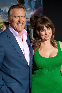 HOLLYWOOD; CA - FEBRUARY 13: Actor Bruce Campbell and Ida Gearon arrive at the world premiere of Walt Disney Pictures' 'Oz The Great And Powerful' at the El Capitan Theatre on Wednesday February 13; 2013 in Hollywood; California. (Photo by Tom Sorensen/Moovieboy Pictures)