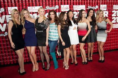 WESTWOOD, CA - FEBRUARY 21: Playboy models attend Relativity Media's '21 and Over' premiere at Westwood Village Theatre on Thursday, February 21, 2013 in Westwood, California. (Photo by Tom Sorensen/Moovieboy Pictures)