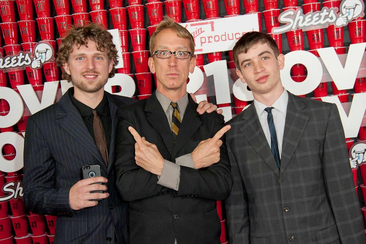 WESTWOOD, CA - FEBRUARY 21: Jacob Dick,  Actor Andy Dick and Lucas Dick attend Relativity Media's '21 and Over' premiere at Westwood Village Theatre on Thursday, February 21, 2013 in Westwood, California. (Photo by Tom Sorensen/Moovieboy Pictures)