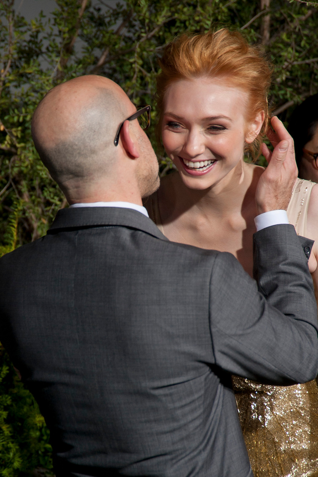 HOLLYWOOD, CA - FEBRUARY 26: Actors Stanley Tucci and Eleanor Tomlinson attend the premiere of New Line Cinema's 'Jack The Giant Slayer' at TCL Chinese Theatre on Tuesday, February 26, 2013 in Hollywood, California. (Photo by Tom Sorensen/Moovieboy Pictures)