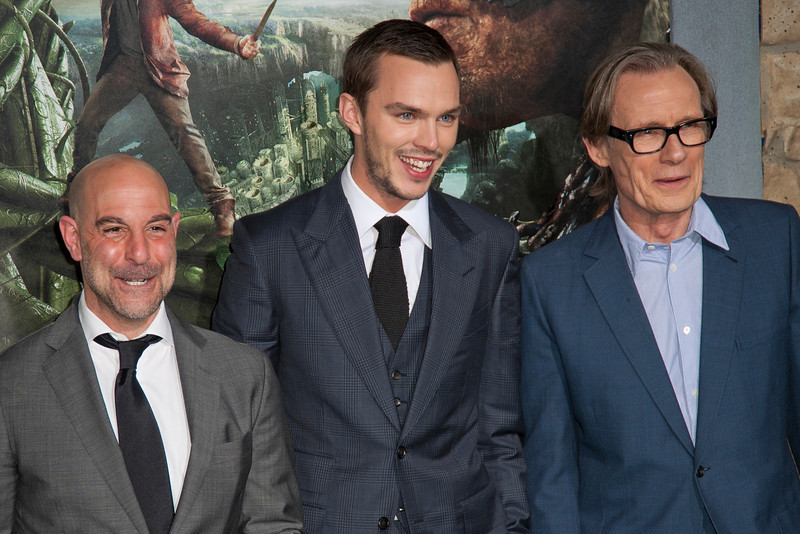 HOLLYWOOD, CA - FEBRUARY 26: (L-R) Actors Stanley Tucci, Nicholas Hoult and Bill Nighy attend the premiere of New Line Cinema's 'Jack The Giant Slayer' at TCL Chinese Theatre on Tuesday, February 26, 2013 in Hollywood, California. (Photo by Tom Sorensen/Moovieboy Pictures)