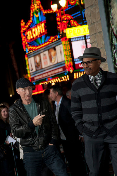 HOLLYWOOD, CA - FEBRUARY 26: Actors Patrick Stewart (L) and Michael Dorn attend the premiere of New Line Cinema's 'Jack The Giant Slayer' at TCL Chinese Theatre on Tuesday, February 26, 2013 in Hollywood, California. (Photo by Tom Sorensen/Moovieboy Pictures)