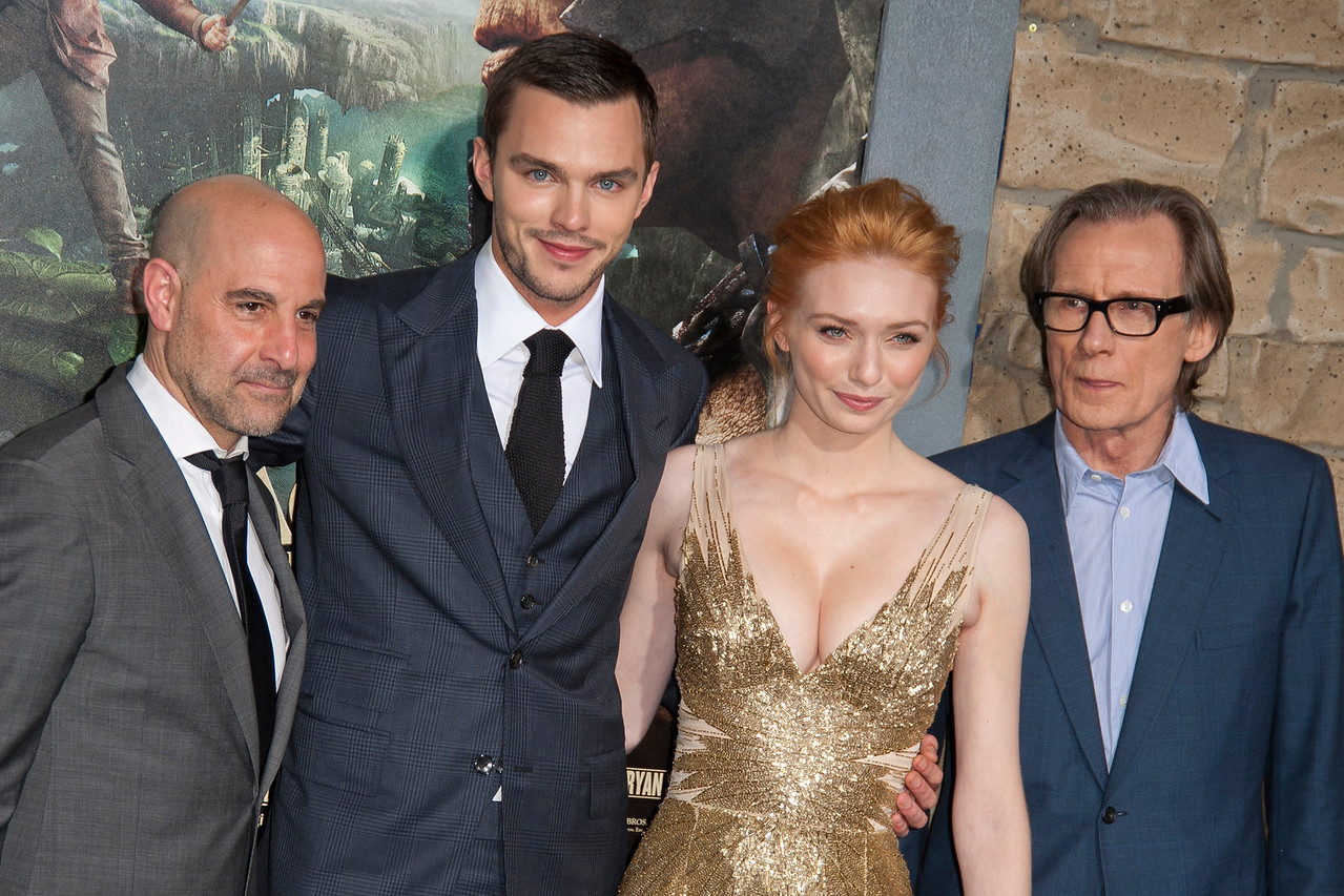 HOLLYWOOD, CA - FEBRUARY 26: (L-R) Actors Stanley Tucci, Nicholas Hoult, Eleanor Tomlinson, and Bill Nighy attend the premiere of New Line Cinema's 'Jack The Giant Slayer' at TCL Chinese Theatre on Tuesday, February 26, 2013 in Hollywood, California. (Photo by Tom Sorensen/Moovieboy Pictures)