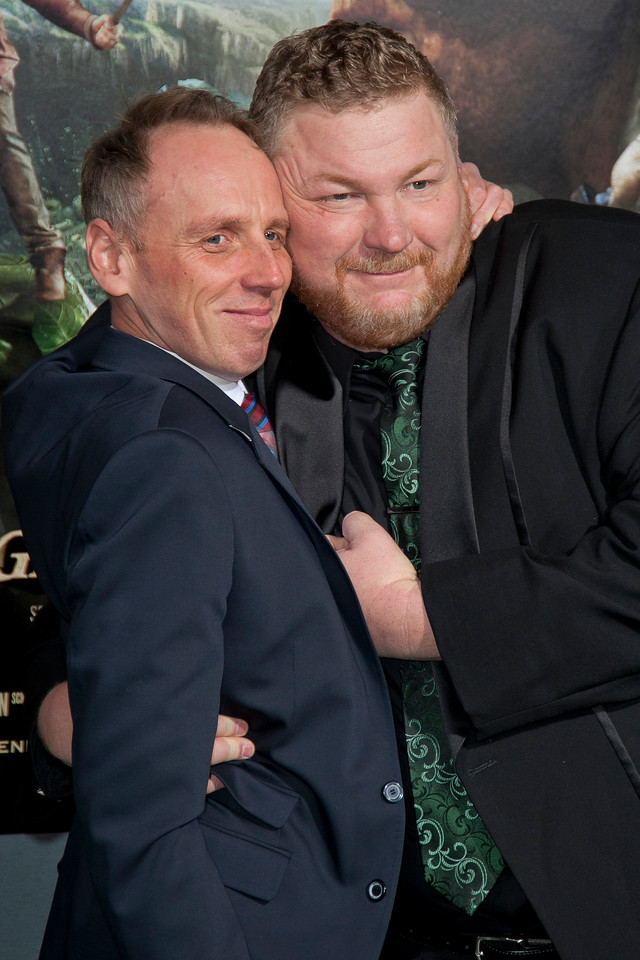 HOLLYWOOD, CA - FEBRUARY 26: Actor Ewen Bremner and writer Dan Studney attend the premiere of New Line Cinema's 'Jack The Giant Slayer' at TCL Chinese Theatre on Tuesday, February 26, 2013 in Hollywood, California. (Photo by Tom Sorensen/Moovieboy Pictures)
