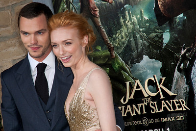 HOLLYWOOD, CA - FEBRUARY 26: Actors Nicholas Hoult (L) and Eleanor Tomlinson attend the premiere of New Line Cinema's 'Jack The Giant Slayer' at TCL Chinese Theatre on Tuesday, February 26, 2013 in Hollywood, California. (Photo by Tom Sorensen/Moovieboy Pictures)