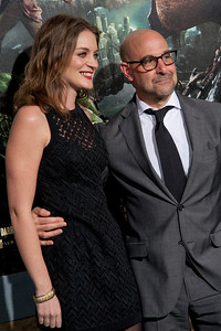 HOLLYWOOD, CA - FEBRUARY 26: Actor Stanley Tucci (R) and Felicity Blunt attend the premiere of New Line Cinema's 'Jack The Giant Slayer' at TCL Chinese Theatre on Tuesday, February 26, 2013 in Hollywood, California. (Photo by Tom Sorensen/Moovieboy Pictures)