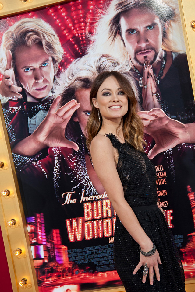 HOLLYWOOD, CA - MARCH 11: Actress Olivia Wilde attends the premiere of Warner Bros. Pictures' 'The Incredible Burt Wonderstone' at TCL Chinese Theatre on Monday, March 11, 2013 in Hollywood, California. (Photo by Tom Sorensen/Moovieboy Pictures)