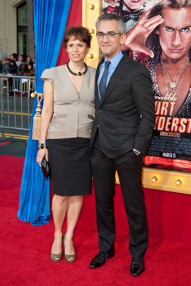 HOLLYWOOD, CA - MARCH 11: Author Richard Wolffe and guest attend the premiere of Warner Bros. Pictures' 'The Incredible Burt Wonderstone' at TCL Chinese Theatre on Monday, March 11, 2013 in Hollywood, California. (Photo by Tom Sorensen/Moovieboy Pictures)