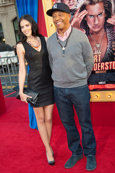 HOLLYWOOD, CA - MARCH 11: Russell Simmons and guest attend the premiere of Warner Bros. Pictures' 'The Incredible Burt Wonderstone' at TCL Chinese Theatre on Monday, March 11, 2013 in Hollywood, California. (Photo by Tom Sorensen/Moovieboy Pictures)