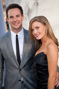 HOLLYWOOD, CA - APRIL 09: Actor Ryan Merriman and Kristen McMullen attend the Los Angeles Premiere of Warner Bros. Pictures' and Legendary Pictures' '42' at TCL Chinese Theatre on Tuesday, April 9, 2013 in Hollywood, California. (Photo by Tom Sorensen/Moovieboy Pictures)