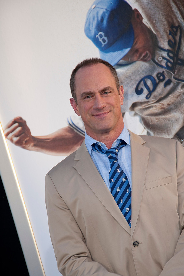 HOLLYWOOD, CA - APRIL 09: Actor Christopher Meloni attends the Los Angeles Premiere of Warner Bros. Pictures' and Legendary Pictures' '42' at TCL Chinese Theatre on Tuesday, April 9, 2013 in Hollywood, California. (Photo by Tom Sorensen/Moovieboy Pictures)