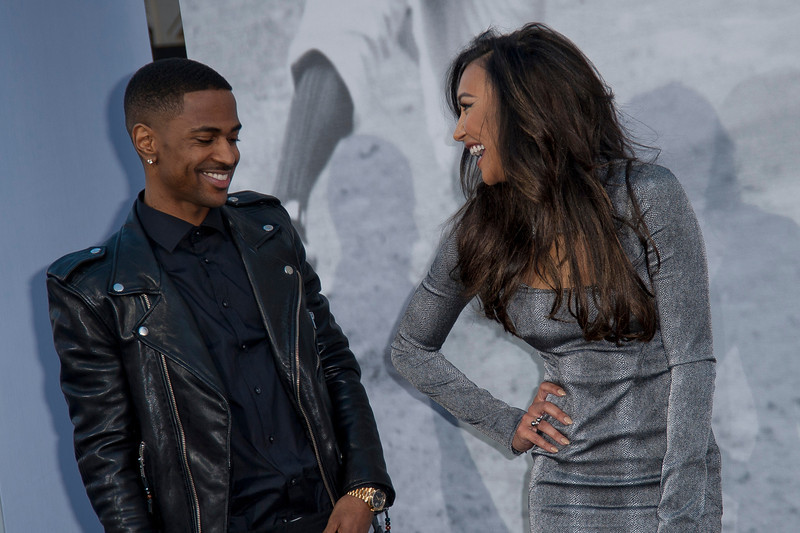 HOLLYWOOD, CA - APRIL 09: Rapper Big Sean (L) and actress Naya Rivera attend the Los Angeles Premiere of Warner Bros. Pictures' and Legendary Pictures' '42' at TCL Chinese Theatre on Tuesday, April 9, 2013 in Hollywood, California. (Photo by Tom Sorensen/Moovieboy Pictures)