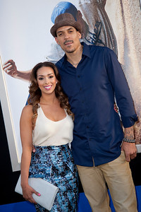 HOLLYWOOD, CA - APRIL 09: NBA player Matt Barnes (R) and Gloria Govan attend the Los Angeles Premiere of Warner Bros. Pictures' and Legendary Pictures' '42' at TCL Chinese Theatre on Tuesday, April 9, 2013 in Hollywood, California. (Photo by Tom Sorensen/Moovieboy Pictures)