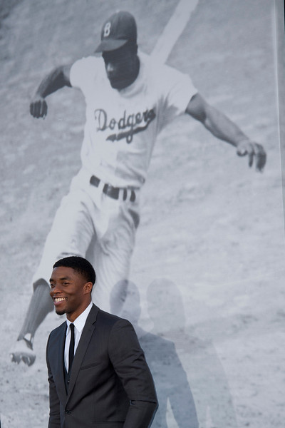 HOLLYWOOD, CA - APRIL 09: Actor Chadwick Boseman attends the Los Angeles Premiere of Warner Bros. Pictures' and Legendary Pictures' '42' at TCL Chinese Theatre on Tuesday, April 9, 2013 in Hollywood, California. (Photo by Tom Sorensen/Moovieboy Pictures)