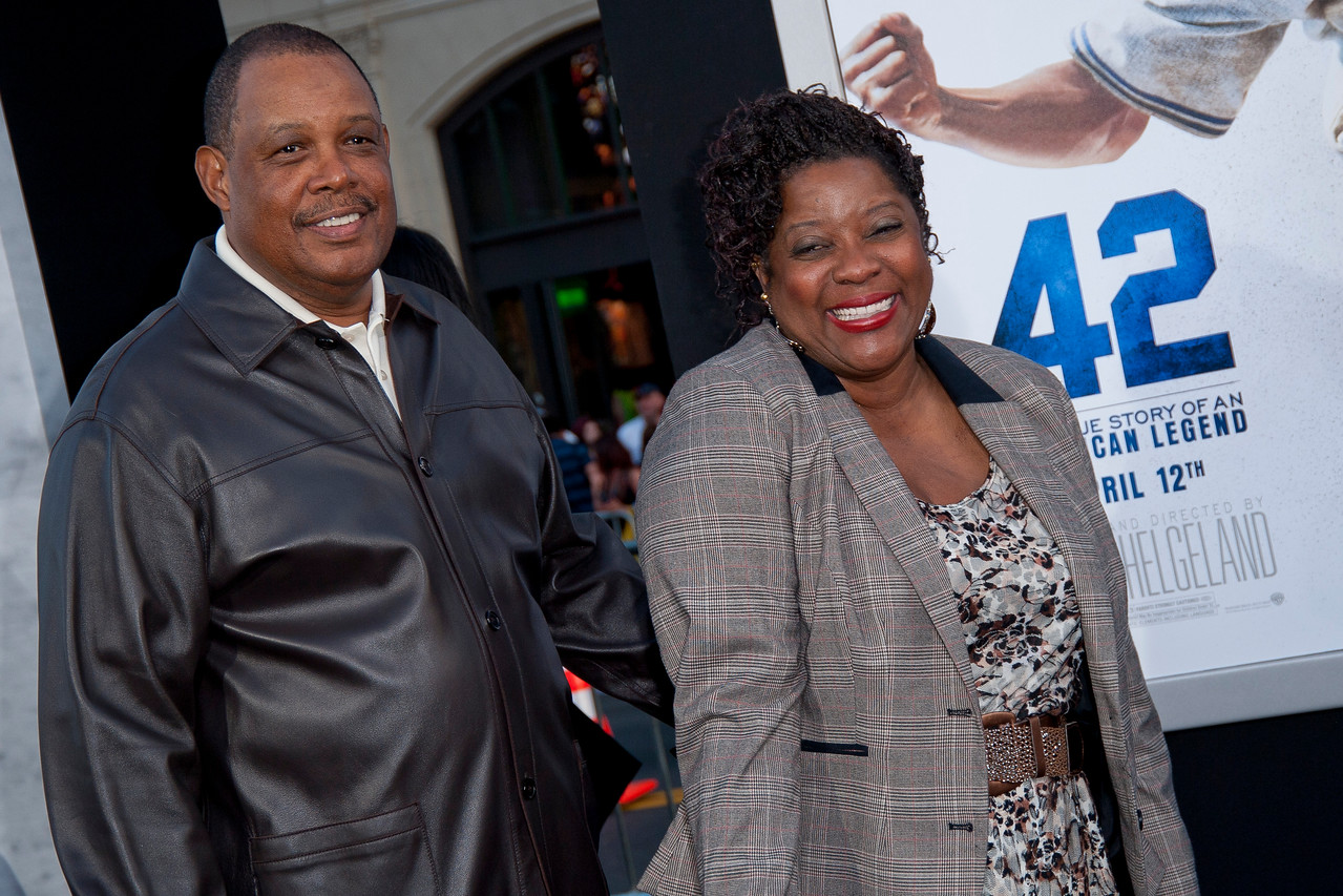 HOLLYWOOD, CA - APRIL 09: Actress Loretta Devine (R) and guest attend the Los Angeles Premiere of Warner Bros. Pictures' and Legendary Pictures' '42' at TCL Chinese Theatre on Tuesday, April 9, 2013 in Hollywood, California. (Photo by Tom Sorensen/Moovieboy Pictures)