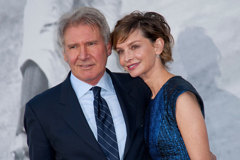 HOLLYWOOD, CA - APRIL 09: Actors Calista Flockhart and Harrison Ford attend the Los Angeles Premiere of Warner Bros. Pictures' and Legendary Pictures' '42' at TCL Chinese Theatre on Tuesday, April 9, 2013 in Hollywood, California. (Photo by Tom Sorensen/Moovieboy Pictures)