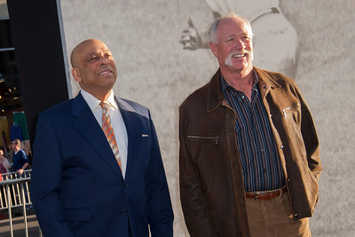 HOLLYWOOD, CA - APRIL 09: Former beseball players Orlando Cepeda and Richard Gossage attend the Los Angeles Premiere of Warner Bros. Pictures' and Legendary Pictures' '42' at TCL Chinese Theatre on Tuesday, April 9, 2013 in Hollywood, California. (Photo by Tom Sorensen/Moovieboy Pictures)