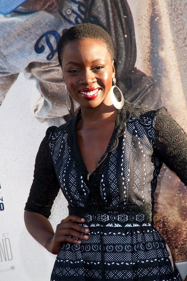 HOLLYWOOD, CA - APRIL 09: Actress Danai Gurira attends the Los Angeles Premiere of Warner Bros. Pictures' and Legendary Pictures' '42' at TCL Chinese Theatre on Tuesday, April 9, 2013 in Hollywood, California. (Photo by Tom Sorensen/Moovieboy Pictures)