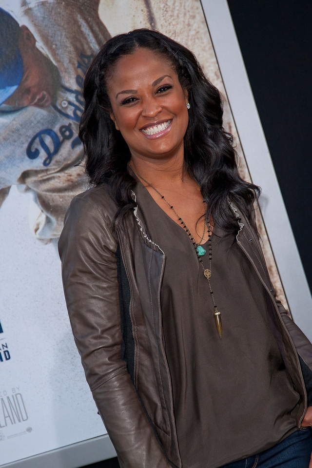 HOLLYWOOD, CA - APRIL 09: Retired boxer Laila Ali, daughter of retired heavyweight boxing legend Muhammad Ali, attends the Los Angeles Premiere of Warner Bros. Pictures' and Legendary Pictures' '42' at TCL Chinese Theatre on Tuesday, April 9, 2013 in Hollywood, California. (Photo by Tom Sorensen/Moovieboy Pictures)