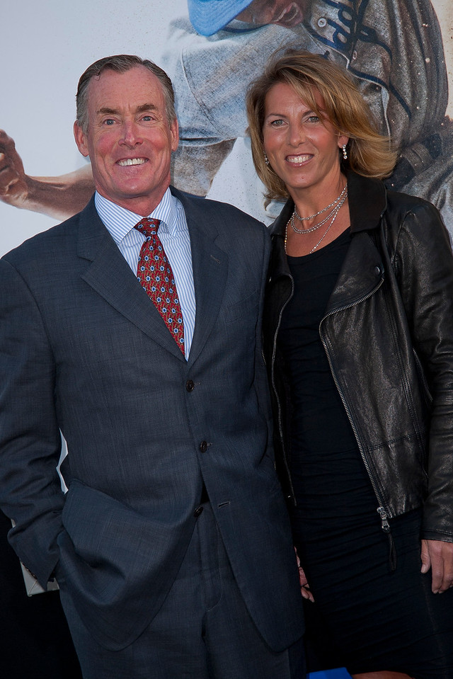 HOLLYWOOD, CA - APRIL 09: Actor John C. McGinley and guest attend the Los Angeles Premiere of Warner Bros. Pictures' and Legendary Pictures' '42' at TCL Chinese Theatre on Tuesday, April 9, 2013 in Hollywood, California. (Photo by Tom Sorensen/Moovieboy Pictures)