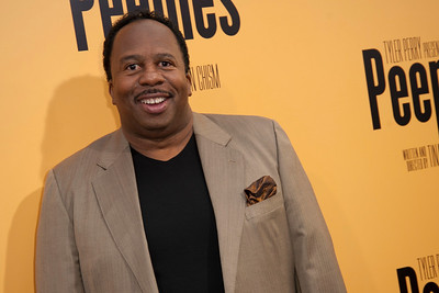 HOLLYWOOD, CA - MAY 08: Actor Leslie David Baker attends the premiere of 'Peeples' presented by Lionsgate Film and Tyler Perry at ArcLight Hollywood on Wednesday, May 8, 2013 in Hollywood, California. (Photo by Tom Sorensen/Moovieboy Pictures)