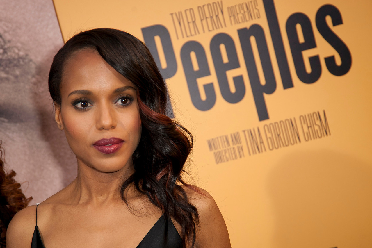 HOLLYWOOD, CA - MAY 08: Actress Kerry Washington attends the premiere of 'Peeples' presented by Lionsgate Film and Tyler Perry at ArcLight Hollywood on Wednesday, May 8, 2013 in Hollywood, California. (Photo by Tom Sorensen/Moovieboy Pictures)