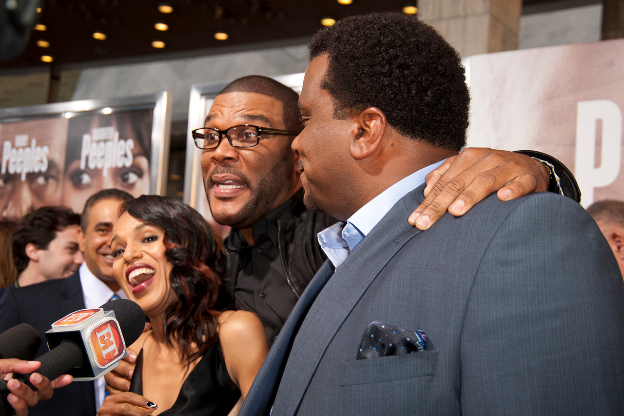 HOLLYWOOD, CA - MAY 08: Actress Kerry Washington, Producer Tyler Perry and actor Craig Robinson attend the premiere of 'Peeples' presented by Lionsgate Film and Tyler Perry at ArcLight Hollywood on Wednesday, May 8, 2013 in Hollywood, California. (Photo by Tom Sorensen/Moovieboy Pictures)