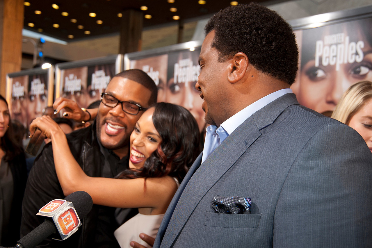 HOLLYWOOD, CA - MAY 08: Producer Tyler Perry, actors Craig Robinson and Kerry Washington attend the premiere of 'Peeples' presented by Lionsgate Film and Tyler Perry at ArcLight Hollywood on Wednesday, May 8, 2013 in Hollywood, California. (Photo by Tom Sorensen/Moovieboy Pictures)