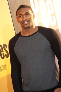 HOLLYWOOD, CA - MAY 08: NBA player Metta World Peace attends the premiere of 'Peeples' presented by Lionsgate Film and Tyler Perry at ArcLight Hollywood on Wednesday, May 8, 2013 in Hollywood, California. (Photo by Tom Sorensen/Moovieboy Pictures)