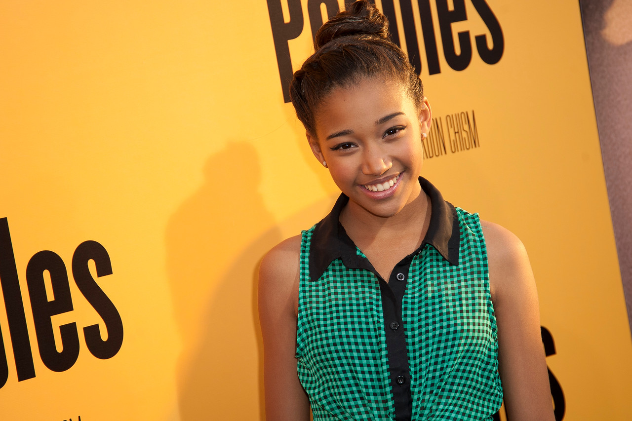 HOLLYWOOD, CA - MAY 08: Actress Amandla Stenberg attends the premiere of 'Peeples' presented by Lionsgate Film and Tyler Perry at ArcLight Hollywood on Wednesday, May 8, 2013 in Hollywood, California. (Photo by Tom Sorensen/Moovieboy Pictures)
