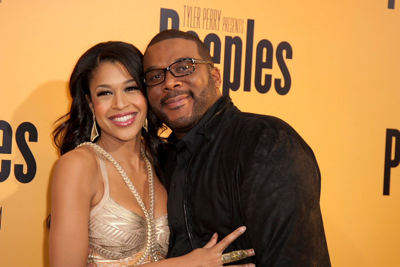 HOLLYWOOD, CA - MAY 08: Actress Kali Hawk and Producer Tyler Perry attend the premiere of 'Peeples' presented by Lionsgate Film and Tyler Perry at ArcLight Hollywood on Wednesday, May 8, 2013 in Hollywood, California. (Photo by Tom Sorensen/Moovieboy Pictures)