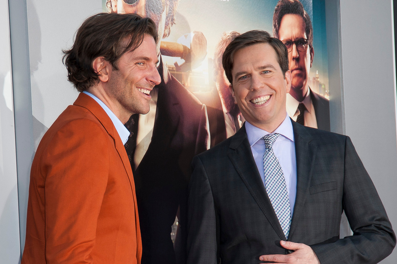 WESTWOOD, CA - MAY 20: Actors Bradley Cooper and Ed Helms attend the premiere of Warner Bros. Pictures' 'Hangover Part 3' at Westwood Village Theater on Monday, May 20, 2013 in Westwood, California. (Photo by Tom Sorensen/Moovieboy Pictures)