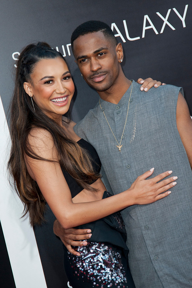 WESTWOOD, CA - MAY 20: Actress Naya Rivera and Big Sean attend the premiere of Warner Bros. Pictures' 'Hangover Part 3' at Westwood Village Theater on Monday, May 20, 2013 in Westwood, California. (Photo by Tom Sorensen/Moovieboy Pictures)
