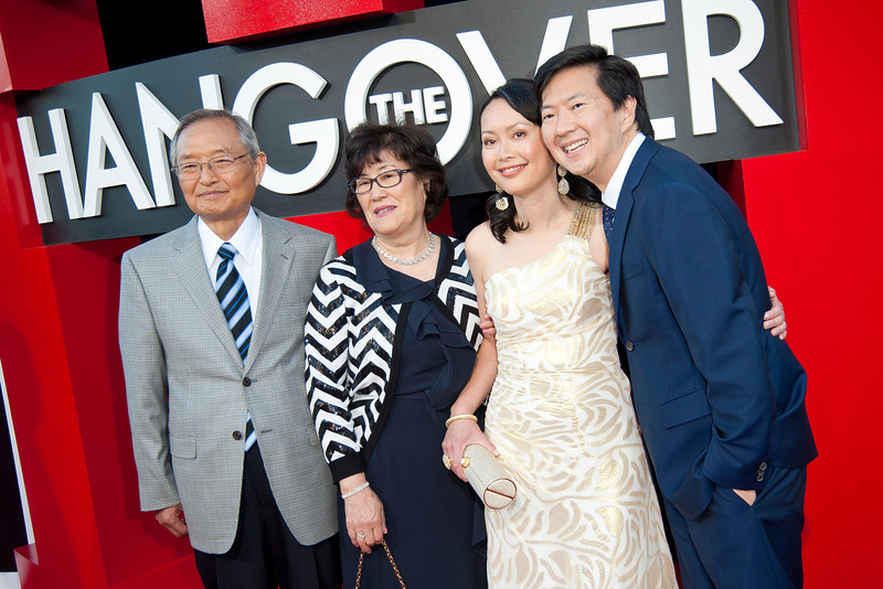 WESTWOOD, CA - MAY 20: (R-L) Actor Ken Jeong, Tran Jeong and family attend the premiere of Warner Bros. Pictures' 'Hangover Part 3' at Westwood Village Theater on Monday, May 20, 2013 in Westwood, California. (Photo by Tom Sorensen/Moovieboy Pictures)