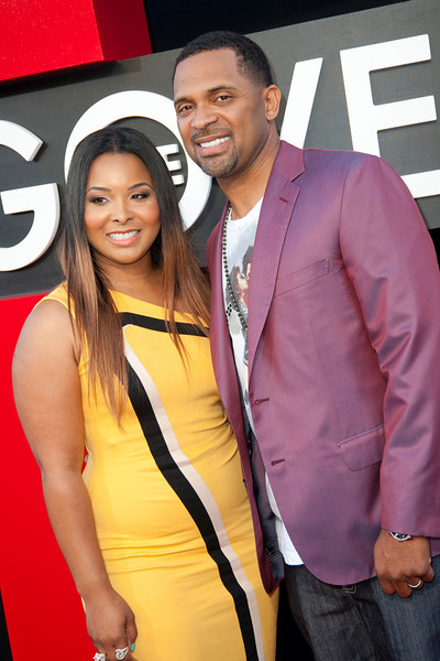 WESTWOOD, CA - MAY 20: Actor Mike Epps (R) and wife Mechelle McCain attend the premiere of Warner Bros. Pictures' 'Hangover Part 3' at Westwood Village Theater on Monday, May 20, 2013 in Westwood, California. (Photo by Tom Sorensen/Moovieboy Pictures)