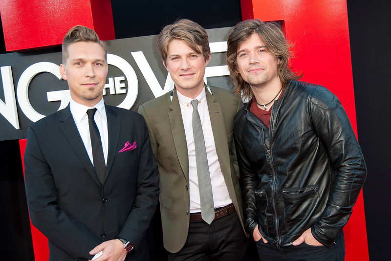 WESTWOOD, CA - MAY 20: Musicians Isaac Hanson, Taylor Hanson and Zac Hanson of Hanson attend the premiere of Warner Bros. Pictures' 'Hangover Part 3' at Westwood Village Theater on Monday, May 20, 2013 in Westwood, California. (Photo by Tom Sorensen/Moovieboy Pictures)