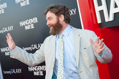WESTWOOD, CA - MAY 20: Actor Zach Galifianakis attends the premiere of Warner Bros. Pictures' 'Hangover Part 3' at Westwood Village Theater on Monday, May 20, 2013 in Westwood, California. (Photo by Tom Sorensen/Moovieboy Pictures)
