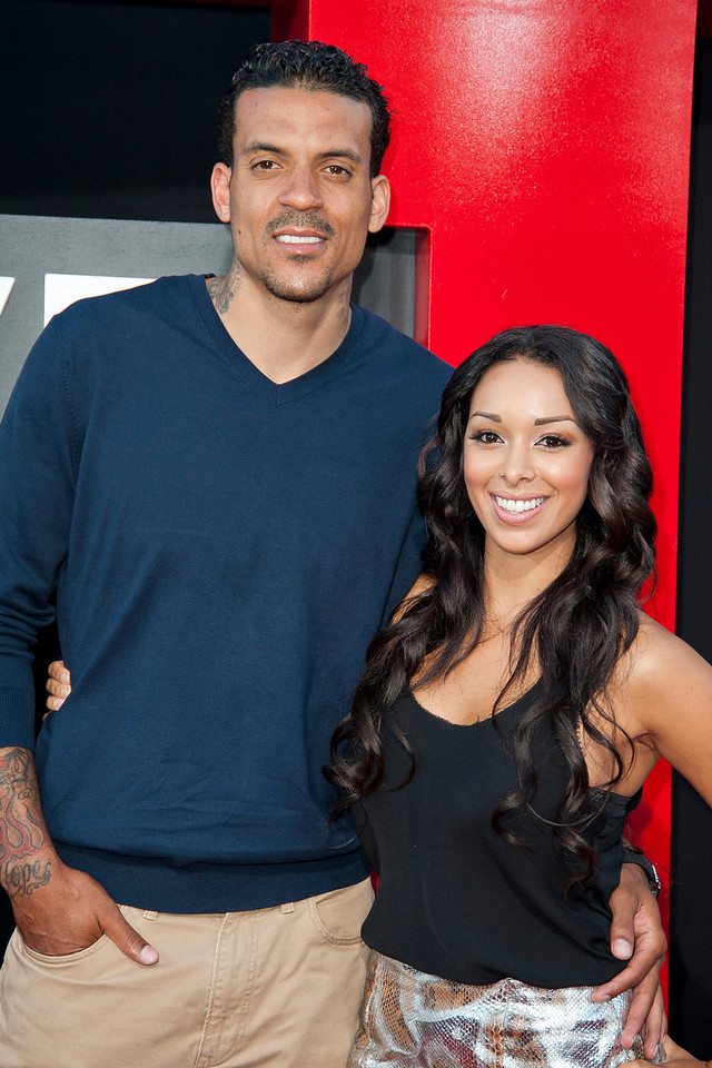 WESTWOOD, CA - MAY 20: Matt Barnes and Gloria Govan attend the premiere of Warner Bros. Pictures' 'Hangover Part 3' at Westwood Village Theater on Monday, May 20, 2013 in Westwood, California. (Photo by Tom Sorensen/Moovieboy Pictures)