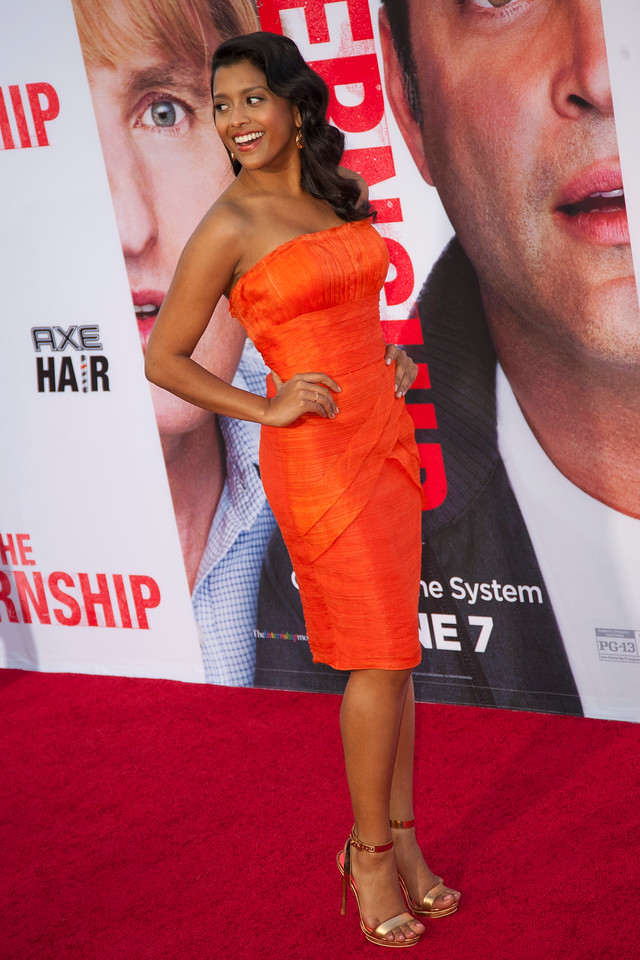 WESTWOOD, CA - MAY 29: Actress Tiya Sircar attends the Los Angeles Premiere 'The Internship' at Regency Village Theatre on Wednesday, May 29, 2013 in Westwood, California. (Photo by Tom Sorensen/Moovieboy Pictures)