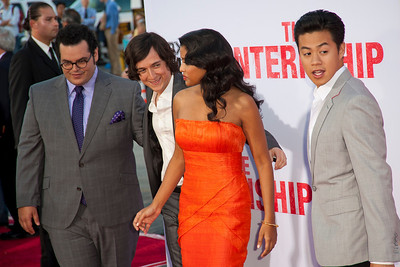 WESTWOOD, CA - MAY 29: Actors Josh Gad, Josh Brener, Tiya Sircar and Tobit Raphael attend the Los Angeles Premiere 'The Internship' at Regency Village Theatre on Wednesday, May 29, 2013 in Westwood, California. (Photo by Tom Sorensen/Moovieboy Pictures)