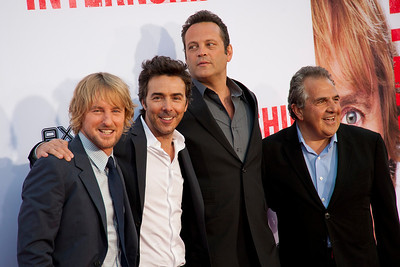WESTWOOD, CA - MAY 29: Actor Owen Wilson, director Shawn Levy, actor Vince Vaughn and Chairman & Chief Executive Officer of Fox Filmed Entertainment Jim Gianopulos attend the Los Angeles Premiere 'The Internship' at Regency Village Theatre on Wednesday, May 29, 2013 in Westwood, California. (Photo by Tom Sorensen/Moovieboy Pictures)