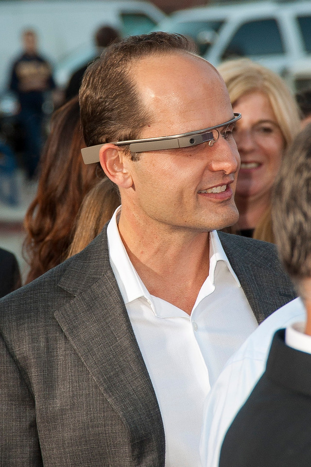 WESTWOOD, CA - MAY 29: A guest wears Google Glass at the Los Angeles Premiere 'The Internship' at Regency Village Theatre on Wednesday, May 29, 2013 in Westwood, California. (Photo by Tom Sorensen/Moovieboy Pictures)