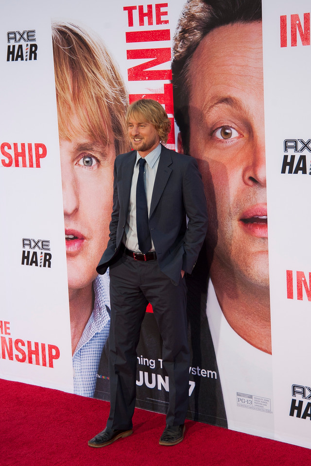 WESTWOOD, CA - MAY 29: Actor Owen Wilson attends the Los Angeles Premiere 'The Internship' at Regency Village Theatre on Wednesday, May 29, 2013 in Westwood, California. (Photo by Tom Sorensen/Moovieboy Pictures)
