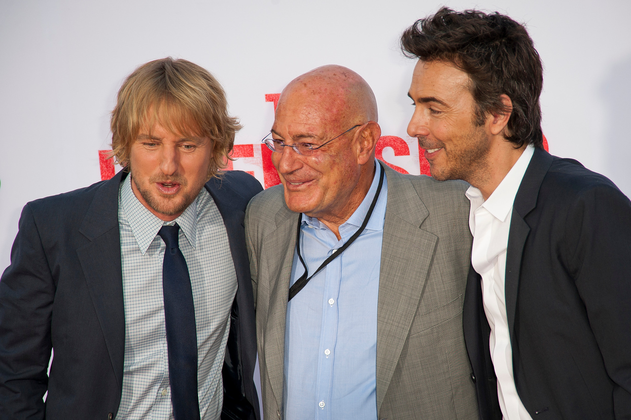 WESTWOOD, CA - MAY 29: Actor Owen Wilson, executive producer Arnon Milchan and director Shawn Levy attends the Los Angeles Premiere 'The Internship' at Regency Village Theatre on Wednesday, May 29, 2013 in Westwood, California. (Photo by Tom Sorensen/Moovieboy Pictures)