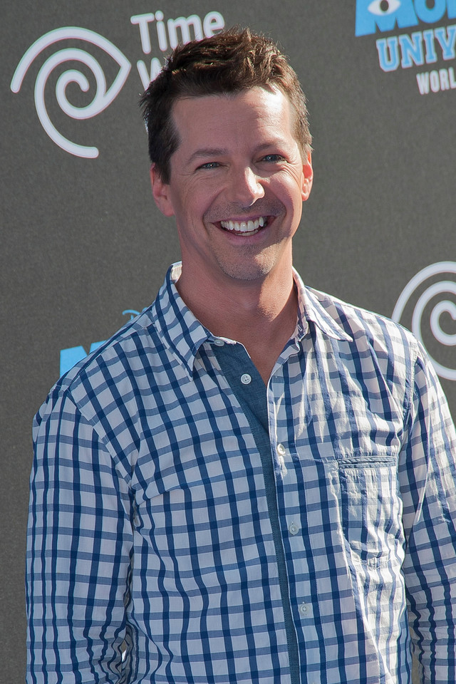 HOLLYWOOD, CA - JUNE 17: Actor Sean Hayes attends the world premiere of Disney Pixar's 'Monsters University' at the El Capitan Theatre on Monday, June 17, 2013 in Hollywood, California. (Photo by Tom Sorensen/Moovieboy Pictures)