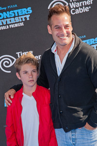 HOLLYWOOD, CA - JUNE 17: Actor Adrian Pasdar and son attend the world premiere of Disney Pixar's 'Monsters University' at the El Capitan Theatre on Monday, June 17, 2013 in Hollywood, California. (Photo by Tom Sorensen/Moovieboy Pictures)