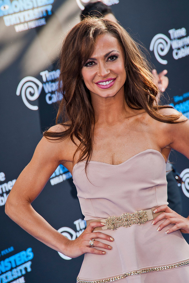 HOLLYWOOD, CA - JUNE 17: Dancer Karina Smirnoff attends the world premiere of Disney Pixar's 'Monsters University' at the El Capitan Theatre on Monday, June 17, 2013 in Hollywood, California. (Photo by Tom Sorensen/Moovieboy Pictures)