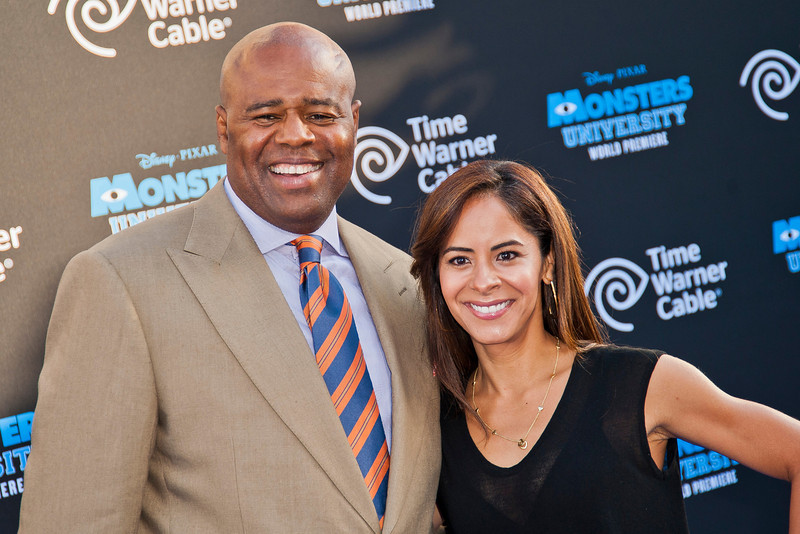 HOLLYWOOD, CA - JUNE 17: Actor Chi McBride and Julissa Marquez attend the world premiere of Disney Pixar's 'Monsters University' at the El Capitan Theatre on Monday, June 17, 2013 in Hollywood, California. (Photo by Tom Sorensen/Moovieboy Pictures)